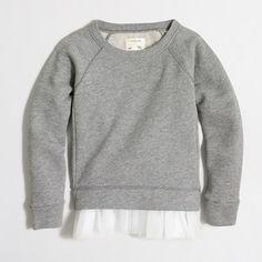 J.Crew+Factory+-+Factory+girls'+tulle-hem+sweatshirt