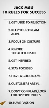 10 Rules for success: Jack Ma