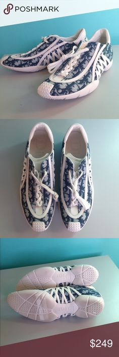 Dior authentic monogram tennies Super cute sporty comfy shoes in excellent condition. Shoes Sneakers