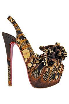 Christian Louboutin - Women's Shoes 2013 Spring-Summer - LOOK 87 Hot Shoes, Crazy Shoes, Me Too Shoes, Shoes Heels, Sexy Heels, Jimmy Choo, Prada, Christian Louboutin Women, Shoe Boots