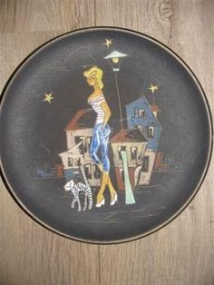 Antique Ruscha wall plate diameter 27 cm