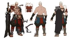project P Game Character Design, Character Sheet, Character Creation, Character Concept, Character Art, Concept Art, Fantasy Characters, Anime Characters, Fantasy Warrior