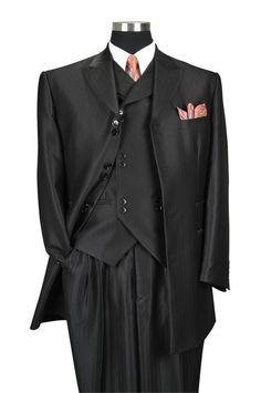 f6a09248b0c Milano Moda Men Suit 5264V-Black High Fashion Dresses