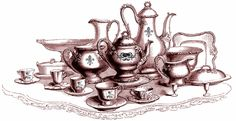 **FREE ViNTaGE DiGiTaL STaMPS**: Free Vintage Digital Stamp - Exquisite Tea Time