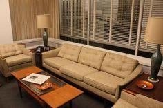 don draper s office couch current price 1500 mad men pinterest rh pinterest com mad men of advertising Mad Men Era Furniture