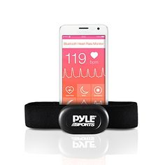 Pyle Bluetooth Smart Heart Rate Sensor for iPhone and Android Phones Works With Polar ALA Coach  MotiFit Strava Apps Bluetooth LE Sensor ** Read more reviews of the product by visiting the link on the image. (This is an affiliate link) #ExerciseandFitnessEquipment