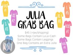 LuLaRoe Grab Bag (2/2)  can be posted to your facebook page or printed out to hand out. Its up to you what you do with it