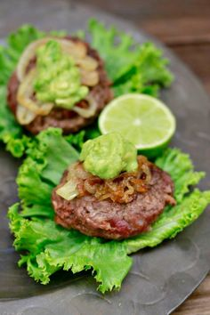 Chipotle Bacon Sliders (gluten and grain free) ~~ savorylotus.com Sans onion for me.