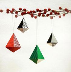 décoration de Noël vintage à fabriquer soi-même en papier