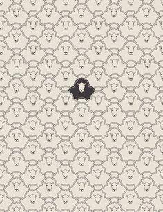 black sheep art print by Davies Babies Cool Posters, Illustration Design, Pattern Wallpaper, Print Patterns, Background Patterns, Sheep Art, Prints, Pattern Art, Textures Patterns