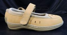 Ortho Feet Shoes Size 6.5D WIDE Mary Jane Diabetic Tan Leather Upper w/insolesw