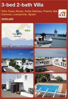 3-bed 2-bath Villa in Villa Casa Almar, Calle Salinas, Puerto Del Carmen, Lanzarote, Spain ►€259,000 #PropertyForSaleInSpain