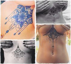 tattoo abaixo dos seios feminina rihanna inspirações - Pesquisa Google