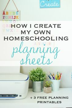 Save money and use these planning sheets for school + 3 free printables! Make homeschooling run smoothly with these sheets you can use when you're planning your days.