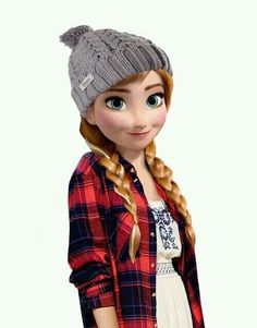 Anna as a hipster. I could actually pull off this look in real life