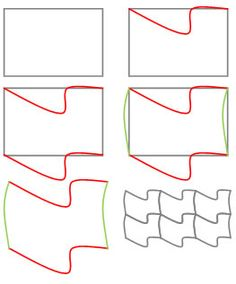 Tessellation Method - how to make a tessellation using the tracing paper method