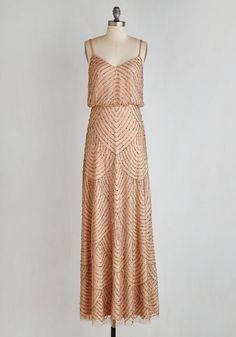 Calling All Romantics Dress in Cafe au Lait | Mod Retro Vintage Dresses | ModCloth.com