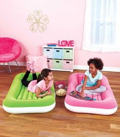 Provide Your Child With A Comfy Place To Sleep Away From Home This Inflatable Kiddie Bed It Has Recessed Center Design That Provides Secure