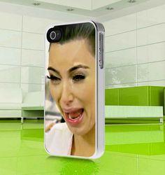 apple iphone case funny cute Kim Kardashian ugly by MuliasCraft, $16.00
