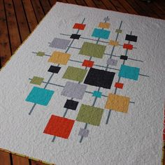 : Freja Quilt Pattern has Launched! Modern Quilt Blocks, Modern Quilt Patterns, Quilt Patterns Free, Block Quilt, Baby Girl Quilts, Girls Quilts, Quilting Projects, Quilting Designs, Quilting Ideas
