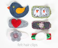 Wish I had a little girl to make these hair clips for...mine are no longer little.