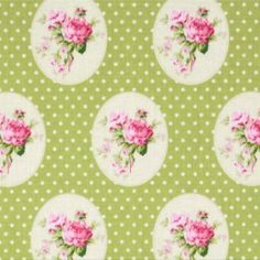 Tanya Whelan Sunshine Roses Old Time Rose Green Designed by Tanya Whelan for Free Spirit, this cotton fabric is perfect for quilting, apparel and home decor accents. Colors include green, pink and white. Accent Colors, Accent Decor, Fabric Design, Print Design, Fabric Shack, Background Vintage, Green Fabric, Damask, Room Inspiration