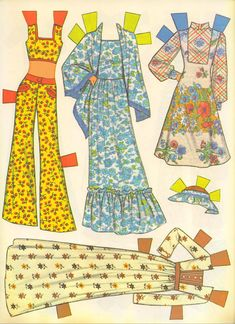 VintageVixen.com Vintage Clothing Blog: She's a Doll! 70s Paper Doll Fashions