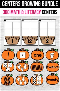 These fall pumpkin centers for kindergarten, preschool and first grade were a great addition in my classroom. My students use them for writing, math activities, practicing the alphabet and letter recognition, and even fine motor skills. It includes math practice centers, phonics (CVC words, sight words, CVCe words and other word work practice for fall, summer, spring and winter)