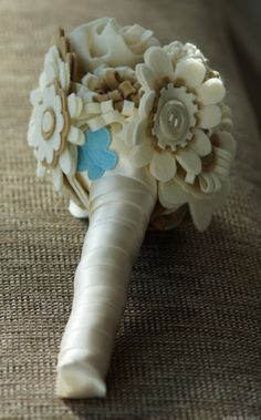 Tutorial: Felt wedding bouquet – Ramo de novia de fieltro