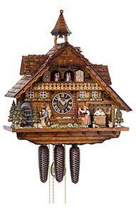 """Diese Uhr wurde im Jahr 2006 zur """"Schwarzwalduhr des Jahres"""" gewählt: Chalet-Kuckucksuhren Kuckucksuhr 8-Tages-Uhrwerk Chalet-Stil 55cm von Hönes"""