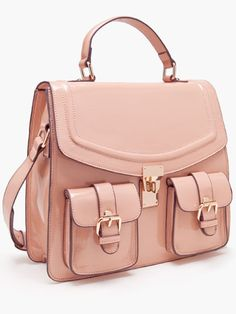 Pair this sleek satchel with a blazer and ballet flats!