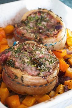 Roasted Lamb Saddle Steaks with Butternut Squash and Red Onions Lamb Dishes, Cooking Turkey, Paleo Dinner, Paleo Recipes, Paleo Meals, Steaks, Butternut Squash, Healthy Cooking, Food Videos