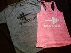 Burnout Couples Swole Mates Work Out Partners Gym Shirts, Workout Wifey, Workout ubby Couples Fitness Beauty and Beast Tank Tops, Couples Gym Shirts