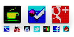Lego social media icons