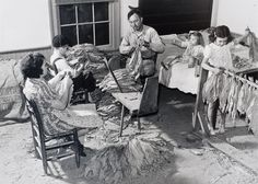 """""""Titus Oakley family stripping, tying, and grading tobacco in their bedroom, Granville County, North Carolina"""", 1939 (printed c. early 1980s), Marion Post Wolcott, American (1910-1990), gelatin silver print, 8 2/16 x 11 2/16 in. Museum purchase with funds from the Laura Weill Cone Acquisition Endowment, 2010. 2010.5.2"""