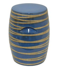 Take a look at this Blue Porcelain Stool by Three Hands Corporation on #zulily today!