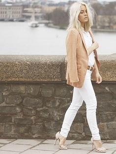 Swedish style blogger Angelica Blick- Love her hair and style, the neutral palette all over looks amazing here!