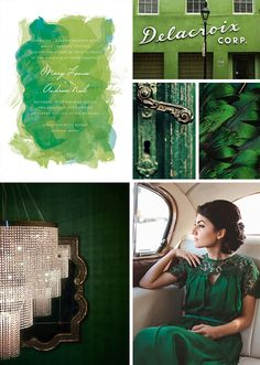 Emerald Wedding Inspiration from Minted's 2013 Wedding Trends