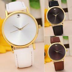 Fashion Women's Retro Design Leather Alloy Case Analog Quartz Wrist Watch Gift