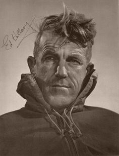 Sir Edmund Hillary, the first person to ever climb Mount Everest.