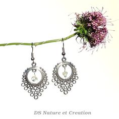 Quartz silver earrings chandelier dangle by DSNatureetCreation  www.etsy.com/listing/237731387/quartz-silver-earrings-chandelier-dangle