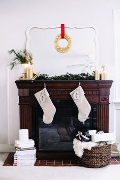 A Bright Holiday Mantle With Pottery Barn