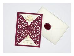 Silhouette Cameo, #wedding invitations, #lasercut, #cricut