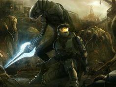 -Di hola halo- by R-SRaven #Halo #Spartan #Elite #ConceptArt #Art #Fanart #Scifi #Fantasy #Gaming #VideoGame #Game #Games #Videogames #artistic #xbox #characterdesign #character #characterart #digitalpainting #digitalart #digital #flood #bungie #343industries #343