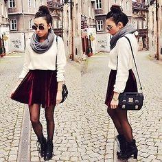 Velvet skirt. I want this for Luxe!