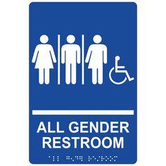 14 Best All Gender Restroom Sign Images Bathroom Toilet