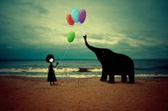 The Girl And The Elephant Art by Eredel