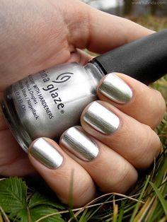 ♥  chrome nail polish (brushed finish)