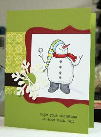 airbornewife's stamping spot: Snow Much Fun ~ set of 8 Christmas cards