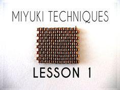Beading Ideas - Miyuki Techniques - Lesson 1 - YouTube